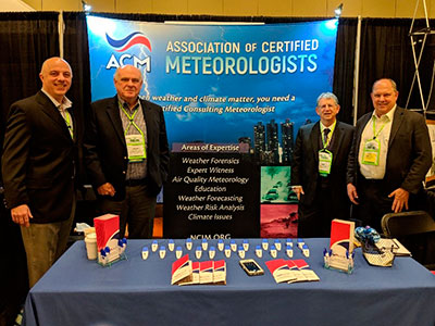 ACM Booth with ACM members (L-R) Mark McGinnis, Steve Harned, Mike Mogil and Bill Conway.