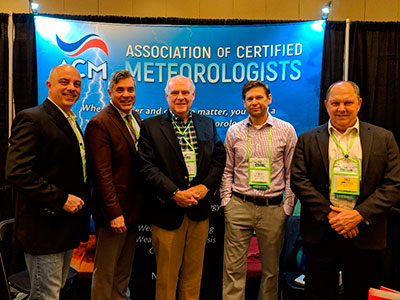 ACM Booth with ACM members (L-R) Mark McGinnis, Steve Harned, Steve Roberts, Bill Conway and Associate Member TC Moore (2nd from Left).